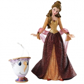 BELLE  & CHIP Christmas figurine H 20cm Showcase Disney 4053349