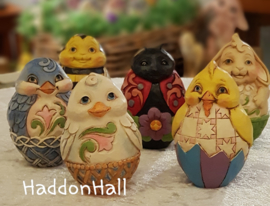 Holiday Eggs Set  van  12 Jim Shore eieren  6003620 uit 2016 handpainted