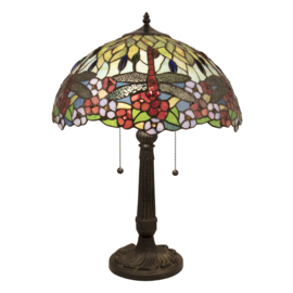 5947 Tafellamp Tiffany H60cm Ø42cm Calopteryx