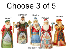 Set van 3 Jim Shore Landen Santa's H18cm Choose 2 of 5