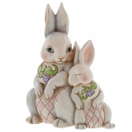 """Forever My Honey Bunny"" Double Bunnies H22cm Jim Shore 6003624"