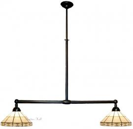 3087 Hanglamp B90cm met 2 Tiffany kapjes Ø32cm Serenity