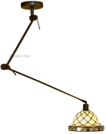 1136 Hanglamp Verstelbaar Draaibar met Tiffany kap Filigrees Ø25cm