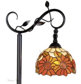 Y8327 5786 Vloerlamp H153cm met Tiffany kap Ø20cm Sunflowers