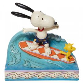 Snoopy & Woodstock Surfing H14cm Jim Shore 6010114