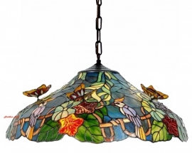 5582 Hanglamp Tiffany Ø52cm Flying Butterflies