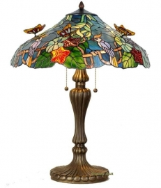 5582 Tafellamp Tiffany H65cm Ø52cm  Flying Butterflies