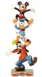 "GOOFY DONALD MICKEY ""Teetering Tower"" H 21cm Jim Shore 4055412"