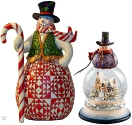 "Set van 2 Snowman H23cm ""Sweet Treat""&""Frosty Days"""