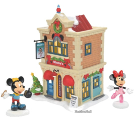 Minnie's Dance Studio - Minnie & Mickey - Set van 3 - Disney Village by D56 6007176