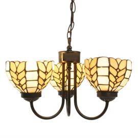 5993 Hanglamp Ø39cm met 3 Tiffany kappen Treccia