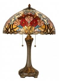 5389 Tafellamp Tiffany H64cm Ø46cm Rosamirthe
