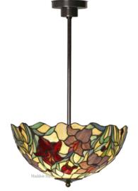 YT22 Hanglamp Tiffany Ø40cm Red Lilly