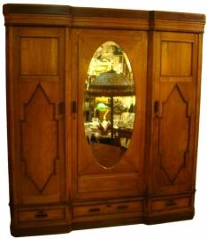 Garderobekast Art Deco H203cm B185cm  Circa 1925 Gerestaureerd