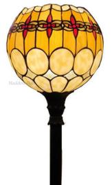 5316 Vloerlamp Zwart H175cm met Tiffany kap Ø27cm Victoria