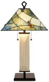 7989 Tafellamp Tiffany H80cm 44x44cm Sky Blue