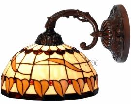 5810 8829 Wandlamp met Tiffany kap Ø25cm Tabacco