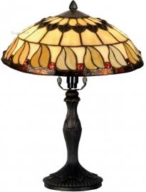 5547 9034 Tafellamp Tiffany H37cm Ø30cm Tabacco