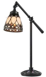 73092 Bureaulamp Verstelbaar met Tiffany kap Brooklyn