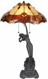 """5377 Tafellamp Tiffany H66cm Ø40cm """"Jugendstil Dame"""""""