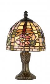 9043 Tafellampje  Tiffany H24cm Ø16cm Garden Dragonfly