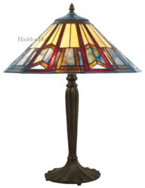 LPC02 Tafellamp Zwart H60cm met Tiffany kap Ø39cm Toren