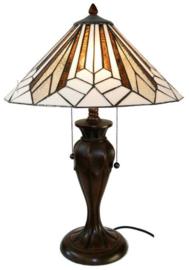 5897 Tafellamp H58cm met Tiffany kap Ø40cm Astoria Brown