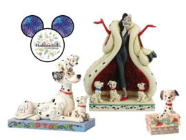 101 Dalmatiers - Set van 3 beelden - Pongo & Puppies - Cruella - Lucky - Jim Shore