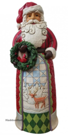 Santa Statue with Wreath H50cm Jim Shore ND4055915