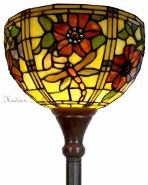 9932 Vloerlamp H180cm met Tiffany kap Ø30cm Gardendragonfly
