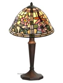 9111 5973 Tafellamp Tiffany H40cm Ø25cm Garden Dragonfly