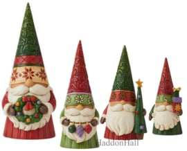 Gnomes Christmas - Set van 4 -  H18cm - Jim Shore