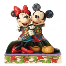 "MICKEY & MINNIE ""Warm Wishes"" H 12,5cm Jim Shore 4057937 Disney Traditions"