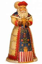 """Wesolych Swiat"" Polish Santa H18cm Jim Shore Poolse kerstman uit 2011"