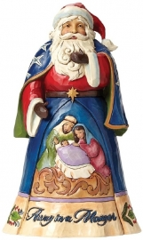 """Away in A Manger"" H26cm Jim Shore Santa Kerstman 4046758"