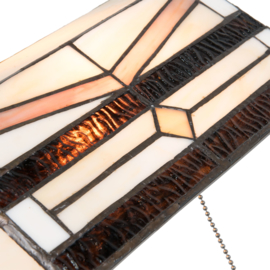 5193 Bureaulamp H51cm met Tiffany kap Toppin