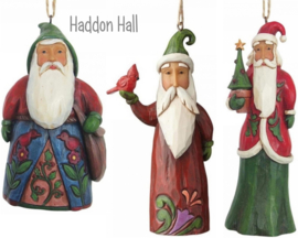 """Folklore Santa's "" Set van 3 Hanging Ornament H12,5 Jim Shore"