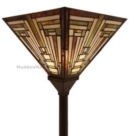 6079 Vloerlamp Uplight H187cm met Tiffany kap 31x31cm Ray of Light