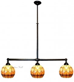 5316 Hanglamp B90cm met 3 Tiffany kappen Ø27cm