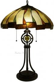 5784 Tafellamp Tiffany H77cm Ø51cm Kensington