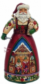 """Handcrafted Holiday"" H26cm Jim Shore  4025490 Santa uit 2011"