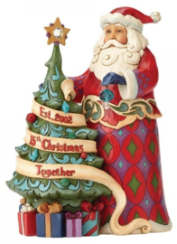 """15th Christmas Together"" H24cm Jim Shore  4059000 Santa Kerstman"