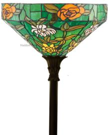74121 Vloerlamp H178 met Tiffany kap Ø40cm Agapantha