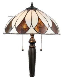 74317 Vloerlamp H160cm met Tiffany kap Ø40cm Aragon