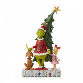 Grinch, Max and Cindy Decorating Tree H28,5cm Jim Shore 6006567