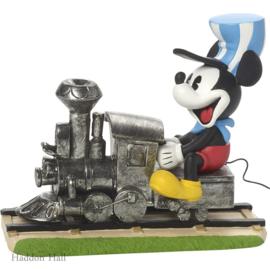 Mickey Mouse Riding Train H10cm B13cm DIsney Showcase 171703