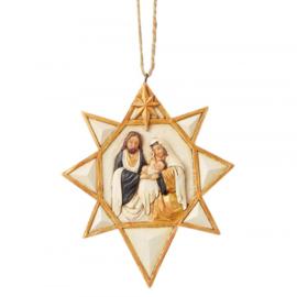 Black & Gold - Nativity Star H11,5cm Hanging Ornament Jim Shore 6004206