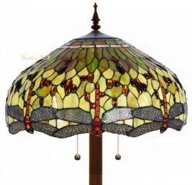 v9200GR 9454 Vloerlamp Tiffany Ø53cm Yellow Dragonfly  Ronde voet