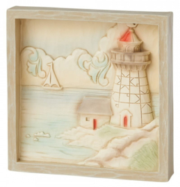 Plaque Lighthouse 16x16cm - Jim Shore 6009334