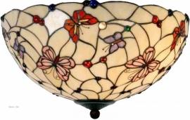 5382 80 Plafonniere Tiffany Ø50cm  Pink Butterfly